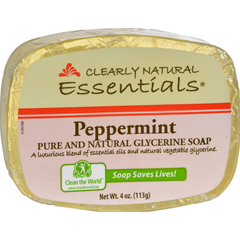 HGR0690750 - Clearly NaturalGlycerine Bar Soap Peppermint - 4 oz