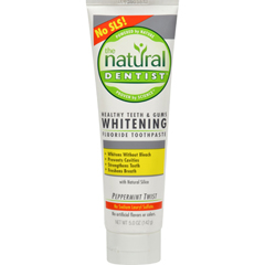 HGR0692459 - Natural DentistHealthy Teeth and Gums Whitening Toothpaste Peppermint Twist - 5 oz