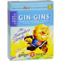 HGR0693945 - Ginger PeopleGingins Super Boost Candy - Case of 24 - 1.1 oz