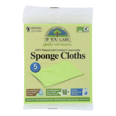 HGR0699272 - If You CareSponge Cloths - 100 Percent Natural - 5 Count - Case of 12
