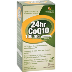 HGR0701284 - Genceutic Naturals24 Hour CoQ10 - 100 mg - 60 Vcaps