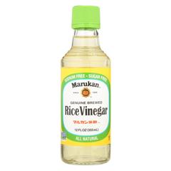 HGR0705137 - Marukan - Rice Vinegar - Genuine Brewed - Case of 6 - 12 Fl oz..