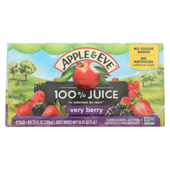 HGR0705491 - Apple and Eve - 100 Percent Juice Very Berry - Case of 6