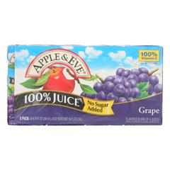 HGR0705566 - Apple and Eve - 100 Percent Juice - Grape - Case of 5 - 200 ml