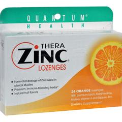 HGR0709105 - Quantum ResearchQuantum TheraZinc Cold Season Plus Lozenges Orange - 14 mg - 24 Lozenges