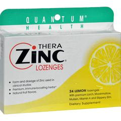 HGR0709303 - Quantum ResearchQuantum TheraZinc Cold Season Plus Lozenges Lemon - 14 mg - 24 Lozenges