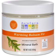 HGR0713925 - Aura CaciaAromatherapy Mineral Bath Warming Balsam Fir - 16 oz
