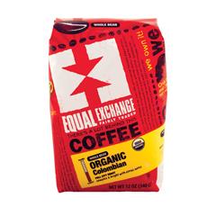 HGR0716241 - Equal Exchange - Organic Whole Bean Coffee - Columbian - Case of 6 - 12 oz..