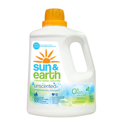 HGR0716647 - Sun and Earth2X Liquid Laundry Detergent - Free and Clear - Case of 4 - 100 oz
