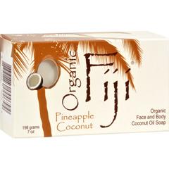 HGR0718940 - Organic FijiOrganic Face and Body Coconut Oil Soap Pineapple Coconut - 7 oz