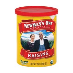 HGR0722439 - Newman's Own Organics - Raisins - Case of 12 - 15 oz..