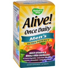 HGR0726521 - Nature's WayAlive Once Daily Mens Multi-Vitamin - 60 Tablets