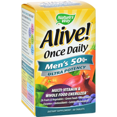 HGR0726562 - Nature's WayAlive Once Daily Mens 50 plus Multi-Vitamin - 60 Tablets