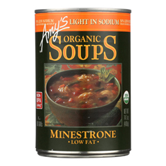 HGR0728964 - Amy's - Organic Low Sodium Minestrone Soup - Case of 12 - 14.1 oz.
