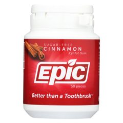 HGR0730119 - Epic DentalCinnamon Gum - Xylitol Sweetened - 50 Count