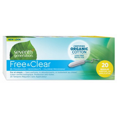 HGR0731075 - Seventh GenerationFree & Clear Tampons - Regular with No Applicator - 240/CS