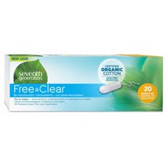 HGR0731083 - Seventh GenerationFree & Clear Tampons - Super Plus with No Applicator - 240/CS