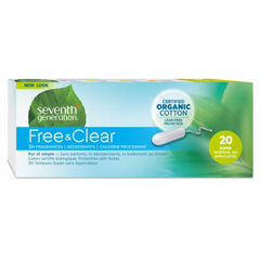 HGR0731117 - Seventh GenerationFree & Clear Tampons - Super with No Applicator - 240/CS