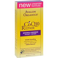 HGR0734640 - AvalonOrganics CoQ10 Wrinkle Defense Night Creme - 1.75 fl oz