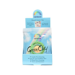 HGR0735381 - Rainbow ResearchGreen Clay Packet Display Center - Case of 12 - .75 oz