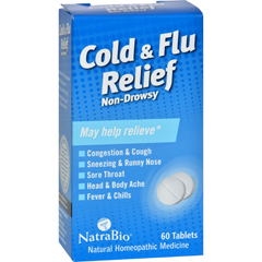HGR0737494 - NatraBioCold and Flu Relief Non-Drowsy - 60 Tablets
