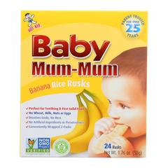 HGR0738567 - Hot Kid - Baby Mum Rice Biscuit - Banana - Case of 6 - 1.76 oz..