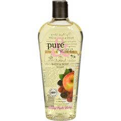 HGR0740332 - Pure and BasicNatural Bath and Body Wash Fuji Apple Berry - 12 fl oz