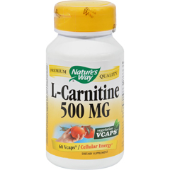HGR0740837 - Nature's WayL-Carnitine - 500 mg - 60 Vegetarian Capsules