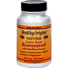HGR0743344 - Healthy OriginsNatural Resveratrol - 300 mg - 60 Vegetarian Capsules