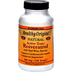 HGR0743385 - Healthy OriginsNatural Resveratrol - 300 mg - 150 Vegetarian Capsules