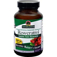 HGR0746784 - Nature's AnswerResveratrol - 250 mg - 60 Vegetarian Capsules