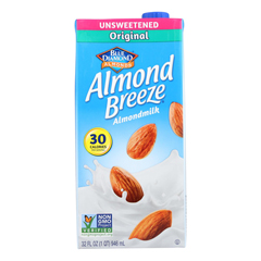 HGR0750976 - Almond Breeze - Almond Milk - Unsweetened Original - Case of 12 - 32 fl oz..