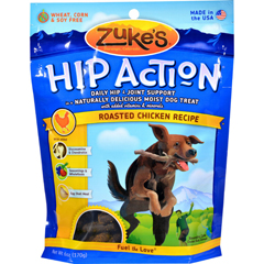 HGR0751966 - Zuke'sHip Action Dog Treats - Chicken Formula - Case of 12 - 6 oz