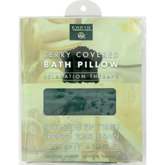HGR0755660 - Earth TherapeuticsTerry Covered Bath Pillow Dark Green - 1 Pillow