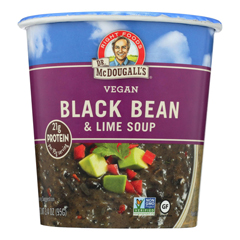 HGR0756825 - Dr. Mcdougall's - Vegan Black Bean and Lime Soup Big Cup - Case of 6 - 3.4 oz..