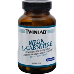 HGR0759704 - TwinlabMega L-Carnitine - 500 mg - 60 Tablets
