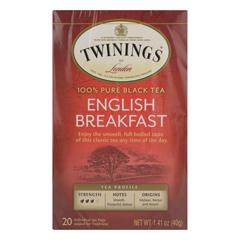 HGR0770859 - Twinings Tea - English Breakfast Tea - Black Tea - Case of 6 - 20 Bags
