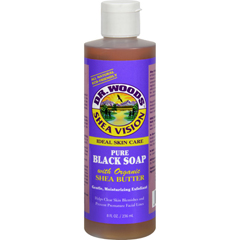 HGR0771477 - Dr. Woods - Shea Vision Pure Black Soap with Organic Shea Butter - 8 fl oz