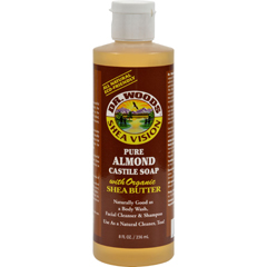 HGR0771576 - Dr. Woods - Shea Vision Pure Castile Soap Almond with Organic Shea Butter - 8 fl oz