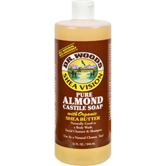 HGR0771618 - Dr. Woods - Shea Vision Pure Castile Soap with Organic Shea Butter Almond - 32 fl oz