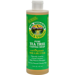HGR0771857 - Dr. WoodsShea Vision Pure Castile Soap Tea Tree - 16 fl oz