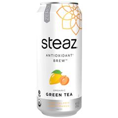 HGR0772061 - Steaz - Zero Calorie Green Tea - Peach Mango - Case of 12 - 16 Fl oz..