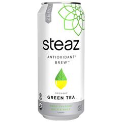 HGR0772244 - Steaz - Zero Calorie Green Tea - Half and Half - Case of 12 - 16 Fl oz..