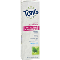 HGR0778167 - Tom's of MaineAntiplaque and Whitening Toothpaste Spearmint - 5.5 oz - Case of 6