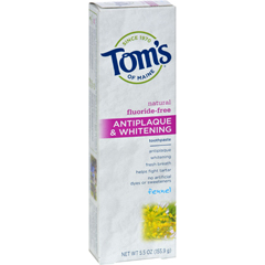 HGR0778381 - Tom's of MaineAntiplaque and Whitening Toothpaste Fennel - 5.5 oz - Case of 6