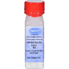 HGR0778944 - Hyland'sCalcium Hepar Sulphate 6x - 250 Tablets