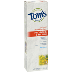 HGR0779801 - Tom's of MainePropolis and Myrrh Toothpaste Fennel - 5.5 oz - Case of 6