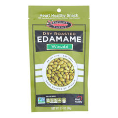 HGR0787895 - Seapoint Farms - Dry Roasted Edamame - Spicy Wasabi - Case of 12 - 3.5 oz..