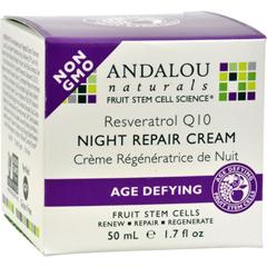 HGR0789180 - Andalou Naturals - Resveratrol Q10 Night Repair Cream - 1.7 fl oz
