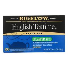 HGR0789339 - Bigelow - English Teatime Decaffeinated Black Tea - Case of 6 - 20 Bags
